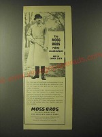 1960 Moss Bros Riding Mackintosh Ad - Now in Gannex Cloth