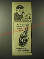 1960 Vat 69 Scotch Ad - but everyone has a double when it's Vat 69