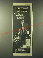 1960 Dewar's White Label Scotch Ad - Wonderful whisky - White Label
