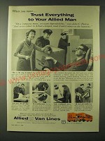 1960 Allied Van Lines Ad - When you move… trust everything to your Allied Man