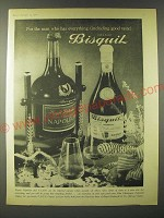 1960 Cognac Bisquit Ad - For the man who has everything (including good taste)