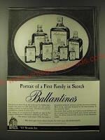 1960 Ballantine's Scotch Ad - Portrait of a first family in Scotch