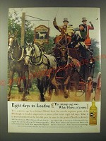 1960 White Horse Scotch Ad - Eight days to London! The stirrup cup
