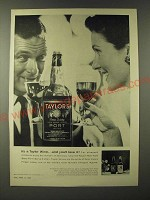1960 Taylor's Port Ad - It's a Taylor wine… and you'll love it!
