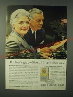 1960 Clairol Come Alive Gray Hair Color Ad - My hair's gray - Now, I love it