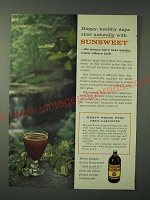 1960 Sunsweet Prune Juice Ad - Happy, healthy days start naturally