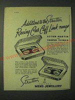 1960 Stratton Ad - Aston Martin and Cooper Climax Racing Car Cuff Links