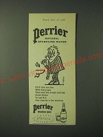 1960 Perrier Water Ad - Perrier Natural Sparkling Water