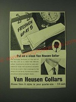 1960 Van Heusen Collars Ad - Freshen up at 5 put on a clean Van Heusen Collar