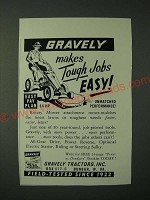 1960 Gravely Tractor Ad - Gravely makes tough jobs easy