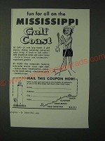 1960 Mississippi Tourism Ad - Fun for all on the Mississippi Gulf Coast
