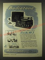1943 Radiotone Audio System Ad - The Only One That Gives All 3