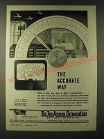 1943 DeJur-Amsco Corporation Eletronic Voltmeter Ohmmeter Ad - The accurate way