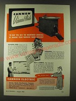 1943 Cannon Electric Deveolpment Company Ad - Cannon Visual Aids to help you