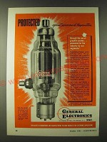 1943 General Electronics Type DR300 Tube Ad - Protected against