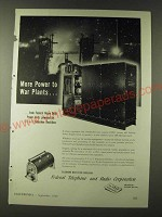 1943 Federal Telephone and Radio Corporation Power Supply Units Ad - More power