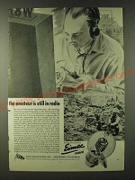 1943 Eimac Tubes Ad - the amateur is still in radio