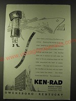 1943 Ken-Rad Radio Tubes Ad - From here to here
