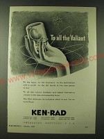 1943 Ken-Rad Electronics Ad - To all the Valiant