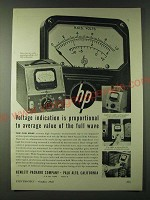 1943 Hewlett-Packard Model 400A Vacuum Tube Voltmeter Ad - Voltage indication