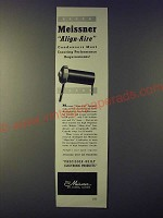 1943 Meissner Align-Aire Condensers Ad - Exacting Performance Requirements