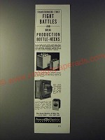 1943 Acme Electric Transformers Ad - fight battles and break Bottle-Necks