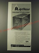 1943 Raytheon Voltage Stabilizers Ad