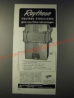 1943 Raytheon Endbell Model Voltage Stabilizer Ad - Advantages