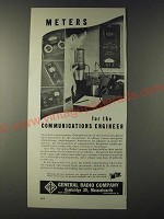 1943 General Radio Company Ad - Meters for the communications engineer