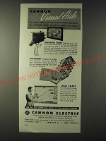 1943 Cannon Electric Ad - Visual Aids to help you lick the manpower Shortage