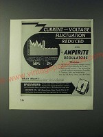 1943 Amperite Regulators Ad - Current and voltage fluctuation reduced
