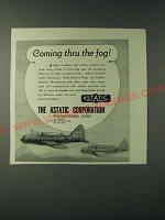 1943 Astatic Corporation Ad - Coming thru the fog!