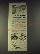 1958 Stratton Jewellery Expanda Cuff Links Ad - Do you wear these