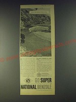 1958 Super National Benzole Ad - Our national heritage