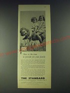 1958 The Standard Life Assurance Company Ad - Now is the time to provide for