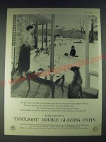 1958 Pilkington Insulight Double Glazing Units Ad - We don't expect