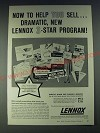 1958 Lennox Heat and Air Conditioning Ad - Now to help you sell