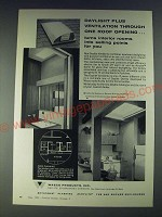 1958 Wasco Daylight Ventdome Ad - Daylight plus ventilation through one roof