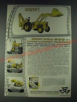 1958 Massey-Ferguson Work Bull 202 Davis Loader Backhoe Ad