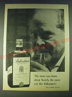 1958 Ballantine's Scotch Ad - The more you know about Scotch, the more you like