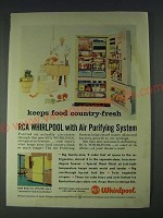 1958 RCA Whirlpool Refrigerator-Freezer Ad - Keeps food country-fresh