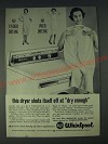 1958 RCA Whirlpool Dryer Ad - This dryer shuts itself off at dry enough