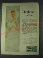 1958 Modess Teen-Age Personal Products Ad - Thinking of her…