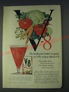 1958 V-8 Vegetable Juice Ad - V-8 No single juice tastes so great as V-8's