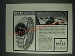 1958 Rolex Explorer Watch Ad