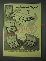 1958 Stratton Jewellery Ad - Hansom Cab Cuff Links, Tie Clip, Tie Retaine