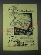 1958 Stratton King and Queen S569 Cuff Links and Tie Retainer Ad