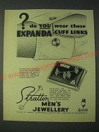 1958 Stratton Expanda Cuff Links Style No. 2070 Ad - Do you wear these