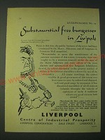 1958 Liverpool centre of Industrial Prosperity Ad - Substauntial free burgesses