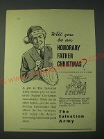 1958 The Salvation Army Ad - Will you be an honorary father Christmas?